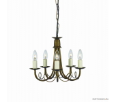Elstead Lighting Minster MN5 BLK/GOLD